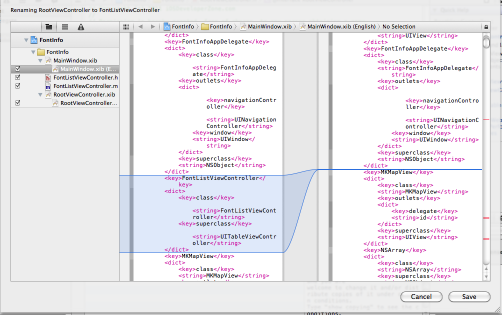 XCode 4 Refactoring Preview