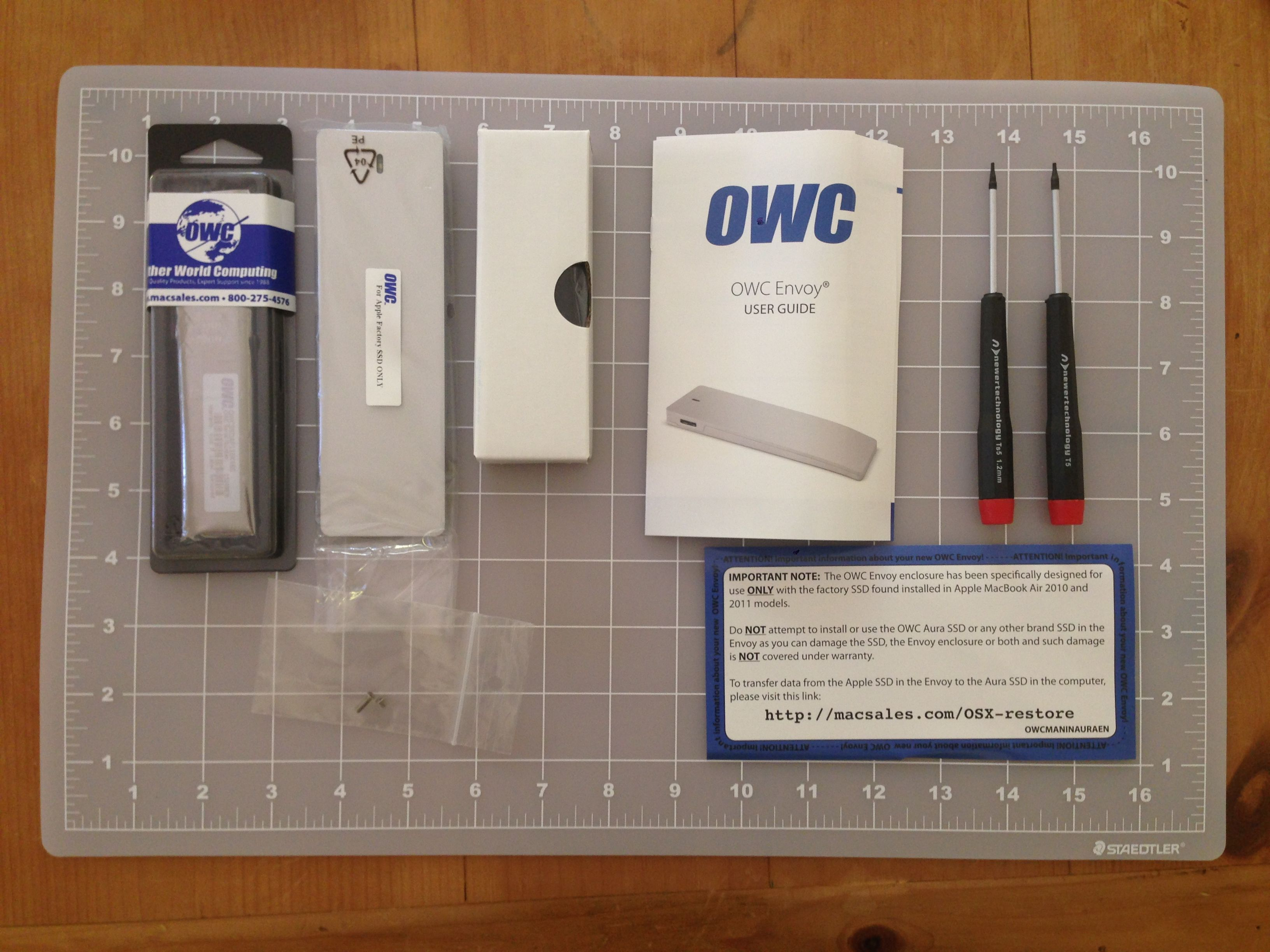Contents of the Auro Pro SSD + Envoy + Tools kit.