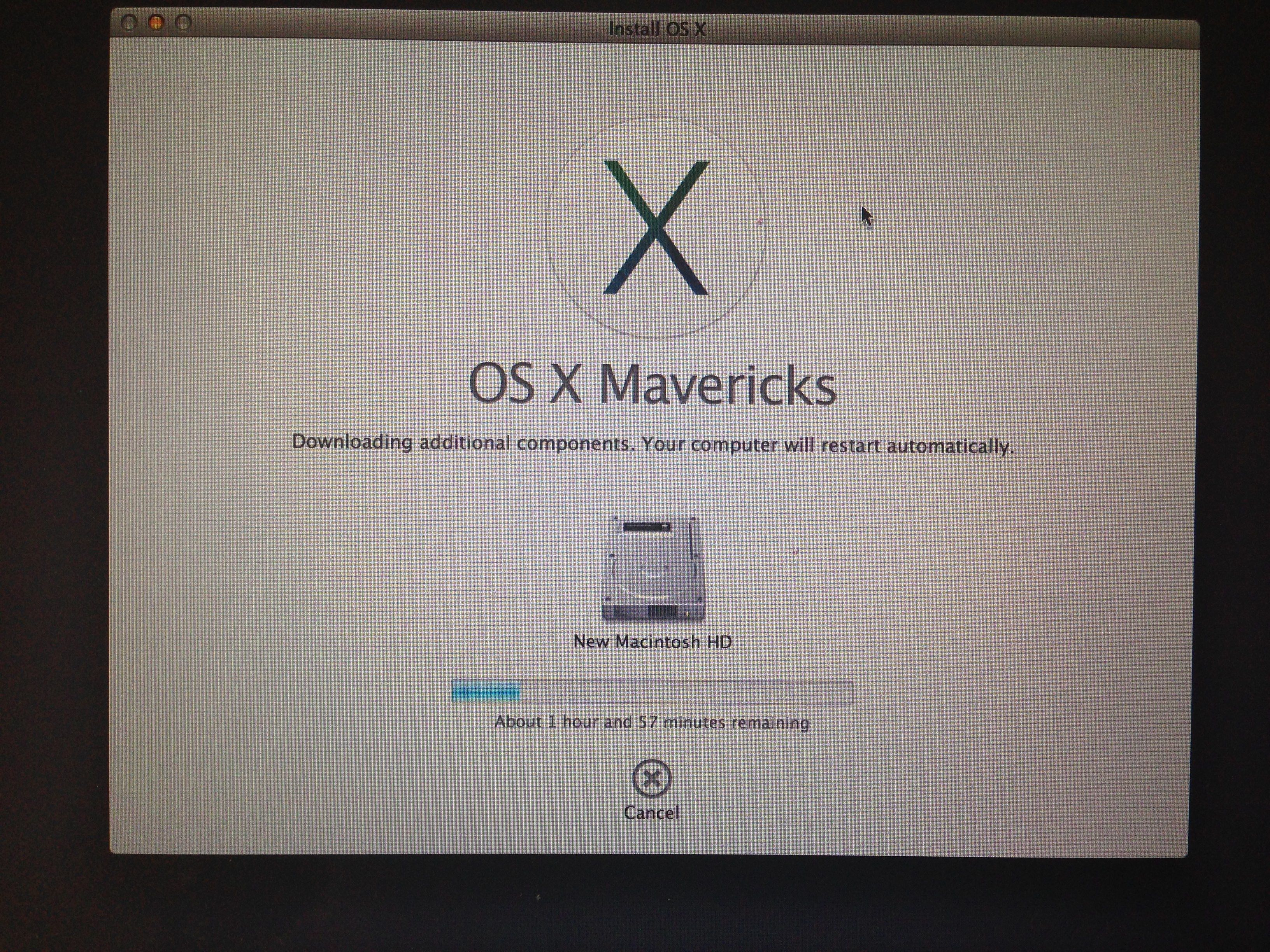 Reinstalling Mavericks